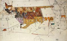 The Yellow Town   -    Egon Schiele  1914  Austrian 1890-1918