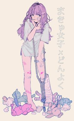 Find images and videos about girl, pink and anime on We Heart It - the app to get lost in what you love. Pastel Goth Art, Art Kawaii, Sketch Inspiration, Creepy Cute, Manga Girl, Anime Girls, Anime Artwork, Looks Cool, Anime Style