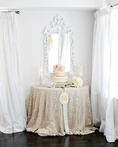 Love the way this is set up. We can do this with your grandmother's crocheted table cloth.