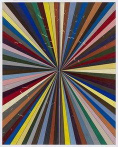 "Mark Grotjahn  Untitled (Full Color Butterfly 41.74)  2011 Color pencil on paper 47 3/4"" x 38"" MG41.74"