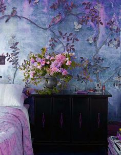 If you don't want to paint, you may choose to choose wallpaper. Ensure you choose wallpaper that's simple to wash and maintain. Suppose you've got wallpaper that has to be removed… De Gournay Wallpaper, Of Wallpaper, Bedroom Wallpaper, Beautiful Wallpaper, Wall Murals Bedroom, Chinoiserie Wallpaper, Wallpaper Patterns, Painting Wallpaper, Textured Wallpaper