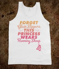 Forget glass slippers, this princess wears running shoes, tee - WANT ($25.99)