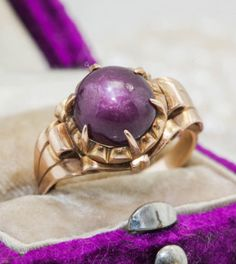 Antique C 1880 Victorian 14k Yellow Gold 3.50 Ct Star Ruby Sapphire Estate Ring! in Jewelry & Watches, Vintage & Antique Jewelry, Fine, Victorian, Edwardian 1837-1910, Rings | eBay