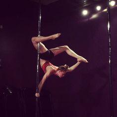 Brass monkey variation #pole #poletrick #flexibility #flexible
