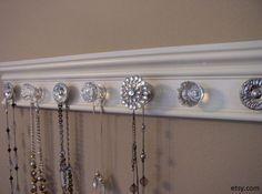 Not just for doors! Use pretty door handles to hang your statement necklaces…