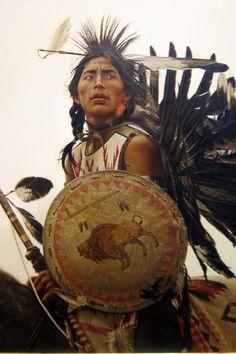Denver - Civic Center: Denver Art Museum - James Bama's Young Plains Indian, via Flickr.