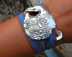 Love Jewelry, Romantic Jewelry Gift for Her, Silk Wrap Bracelet by HappyGoLickyJewelry.com