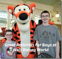 There are lots of fun activities available for boys at Walt Disney World jeri@travelwiththemagic.com