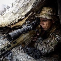 Sniper's Creed I am master of your fate, I choose when you live or die, and you will not know when it comes. When I have you in my sights I will send you to God. Military Photos, Military Police, Military Art, Usmc, Marines, Military Weapons, Special Ops, Special Forces, Badass