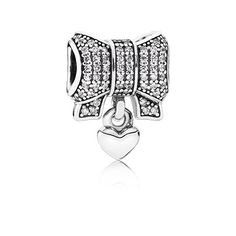 $85.00 Heart & Bow, Clear CZ