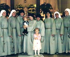 Sr. Lucille's family - novices have white veils