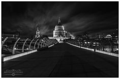 St Paul's Cathedral by Night  #architecture #stpaulscathedral #london #sightseeing #night #longexposure #church #bridge #milleniumbridge #cityscape