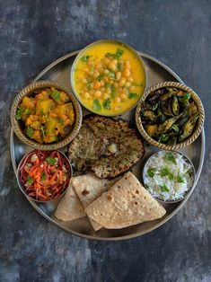 Our 30 Day Calendar of Indian Meals and recipes shows you how to cook more and enjoy family-friendly meals that come together quickly and deliciously. Vegetarian Lunch, Vegetarian Recipes, Indian Vegetarian Dishes, Lunch Recipes Indian, Indian Snacks, Veg Thali, Indian Breakfast, Desi Food, Food Combining
