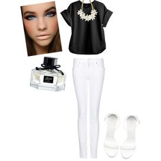 """""""black & white"""" by dyandraajeng on Polyvore"""