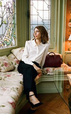Oscar-winning film-maker Sofia Coppola with the new bag she's made for Louis Vuitton.