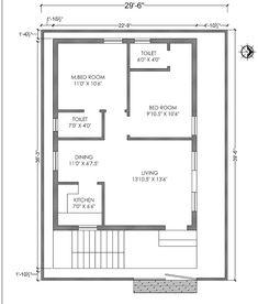 Home Designs-Interior Decoration ideas Town House Plans, 20x30 House Plans, 2bhk House Plan, Model House Plan, House Layout Plans, Duplex House Plans, Family House Plans, Bedroom House Plans, House Floor Plans
