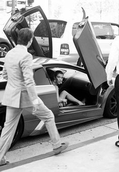 Kourtney #Kardashian & Scott #Disick in #Lamborghini.