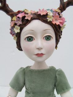 OOAK paperclay and cloth art doll