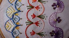Hand Embroidery Designs | Basic embroidery stitches # Part 8 | Stitch an...