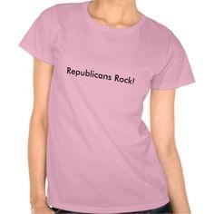 Republicans Rock! T Shirts