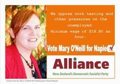 Mary O'Neill Alliance Party Candidate for Napier Electorate - NZ Parliamentary Election 2014 Election 2014, Doll Museum, Parliamentary Elections, Democratic Socialist, Mary