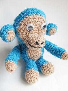 Amigurumi Blue Monkey