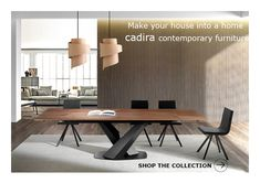 Contemporary Furniture, Contemporary Design, Leather Bed, Sofa Design, Modern Bedroom, Sofas, Living Room Decor, Tables, Dining Table