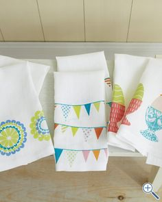 How fun would it be for guests to be greeted with these Printed Guest Towels from Garnet Hill?!