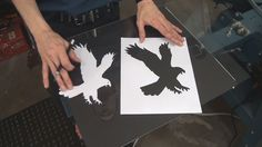 How To Screen Print T Shirts Using Hand Cut Paper Stencils 14 min. demo with several examples