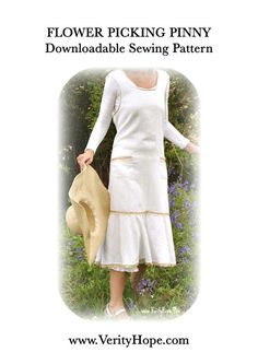 Flower Picking Pinny 1930s apron dress PDF pattern by Verity Hope - one size