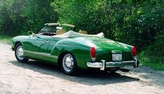 I've wanted a Karmann Ghia since I was about seven and this shade of green is so unexpected.