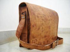 Bohemian Full Flap Camel Leather Messenger Bag Cross body style - LoveItSoMuch.com