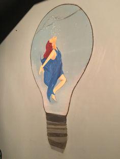 Room/Wall/Wallart/Bulb/Redhead/Woman/BlueDress / / /