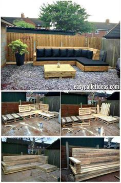 Tutorial Pallet L Shaped Sofa For Patio Couch Diy Patio Pallet Garden Furniture Diy Pallet Couch