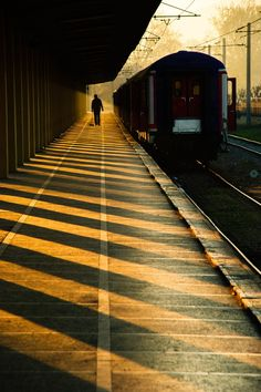 Lost in America - Train Station by ~FCGalatasaray Lost In America, South America, Trains, By Any Means Necessary, Chiaroscuro, Train Tracks, Light And Shadow, Belle Photo, Great Photos