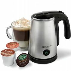 """Love chai tea lattes at Starbucks? My hubs bought this milk frother, gets a 3-pk of Tazo Chai liquid boxes at Costco, and milk....seriously a fraction of the price! He heats the chai in a coffee cup in the micro for 1:10 and fills the milk to the first """"max"""" mark on the frother. Mix together and *muah*...a happy wife :)"""