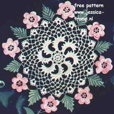 Irish rose doily free vintage crochet doilies patterns