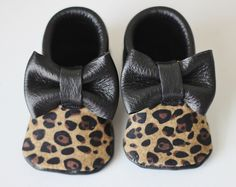 Leopard cheetah bow moccs baby toddler moccasins clothes shoes baby shower ideas baby food maternity baby girl announcement milestones breastfeeding 1st birthday first birthday
