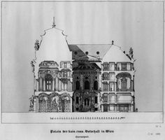 Otto Wagner. Rendered Elevation