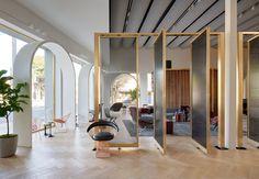 Knoll Creates a Moroccan-Inspired Showroom for Its Home Design Shop in LA - Design Milk Design Shop, Home Design, Showroom Design, Interior Design Studio, Interior Design Living Room, Design Ideas, Furniture Showroom, Furniture Design, Office Furniture