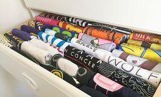 Folding Clothes – The KonMari Method Organization Station, Home Organisation, Closet Organization, Marie Kondo Konmari, Konmari Method Folding, Organizar Closet, Tidy Up, Ikea, Organizing Your Home