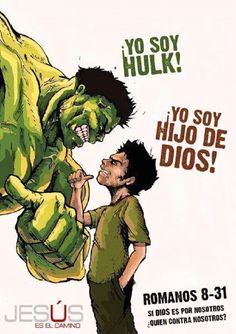 Romans Think David and Goliath! If God is for us, then who is against us? The Hulk? Bible Art, Bible Quotes, Bible Verses, Qoutes, Godly Quotes, Romans 8 31, David And Goliath, My Jesus, Jesus Pics
