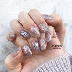 """Risako Nakano on Instagram: """". purple grey pink 𓂅゜ . . #lachouette#ラシュエット#ネイル#梅田ネイル #ショートネイル#ニュアンスネイル #春ネイル#クリアネイル#ニュアンス"""" Gelish Nail Colours, Gelish Nails, Cute Nails, Pretty Nails, Crackle Nails, Nail Tutorials, Nail Trends, Nail Arts, Hair Designs"""
