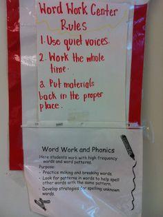 Word Work Center