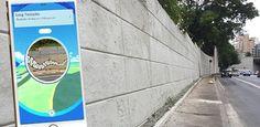 """Grafites da 23 de Maio apagados por Doria 'sobrevivem' no """"Pokémon GO"""""""
