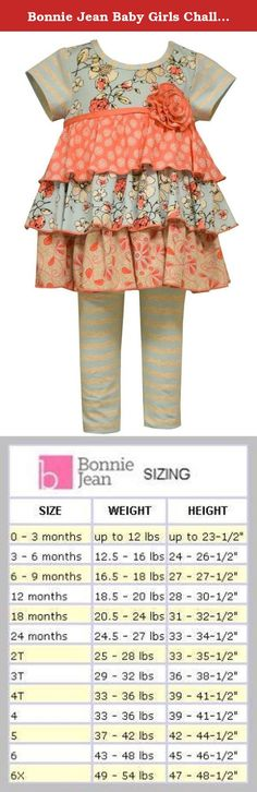Bonnie Jean Baby Girls Challis Tier Tunic and Pant Set, 6-9 Months. This is the perfect look for a day out on the town. An old-fashioned style can be beautiful and elegant with this Challis tiered tunic with soft ruffles in pink and blue. It features a mix of floral patterns throughout along with a beautiful appliqued rose and striped blue and white pants. Your little one will be cuter than ever in this outfit.