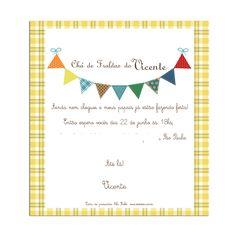 convite chá de fraldas junino - Pesquisa Google