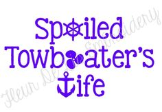 Spoiled Towboater's Wife Decal