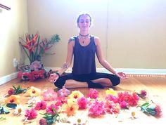 Instructor Ashlie McGuire prepares for Flower Power!  at the Maui Yoga & Dance Shala - Paia