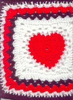 Heart Granny Square ~ Refer to Other Ideas for Brilliant 41 Pictures Heart Granny Square Pertaining to Exclusive Heart Granny Square Crochet Pattern Petals to Picots with Heart Granny Square Grannies Crochet, Crochet Squares Afghan, Crochet Motifs, Granny Square Crochet Pattern, Crochet Blocks, Crochet Stitches, Knit Crochet, Crochet Patterns, Granny Squares